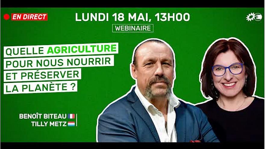 'quelle agriculture pour nourrir et préserver la planète ?' conférence des députés écologistes européens :  #PAC @BenoitBiteau @MetzTilly